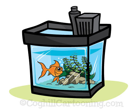 mat denan: Cartoon Aquarium Illustration