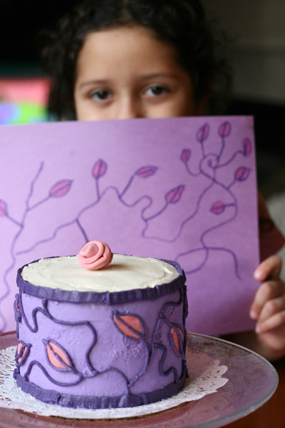 Purple and Pink Cake