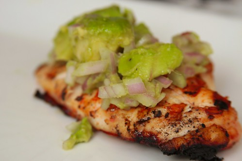 cayenne chicken with avocado relish