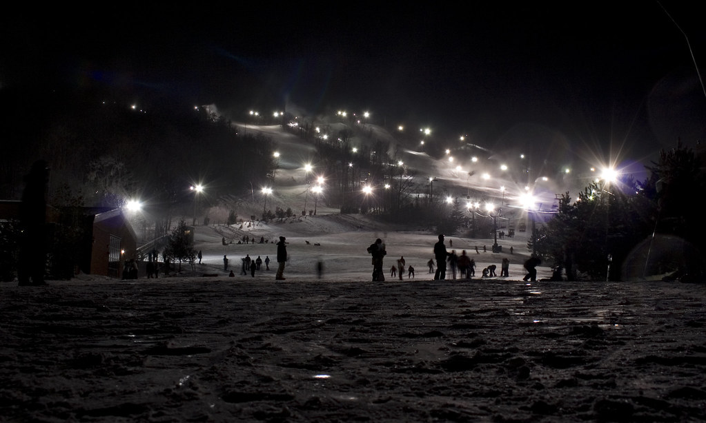 Blue Mountain by night