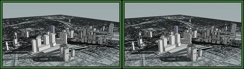 3D-crosseye-Virtual Osaka Umeda 20XX
