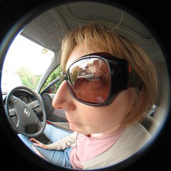 people woman laura home face car driving fisheye mollivan