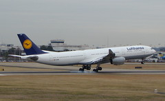 Lufthansa (Just Plane Photography) Tags: airplane us video airport charlotte no air jet landing international airbus boeing 300 douglas takeoff lufthansa a340 340 a300 clt kclt