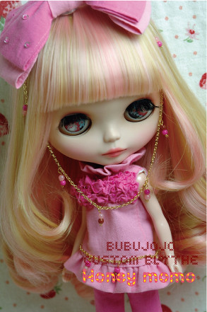 BUBUJOJO Custom Blythe【Honey momo】 by ♥BUBUJOJO♥.
