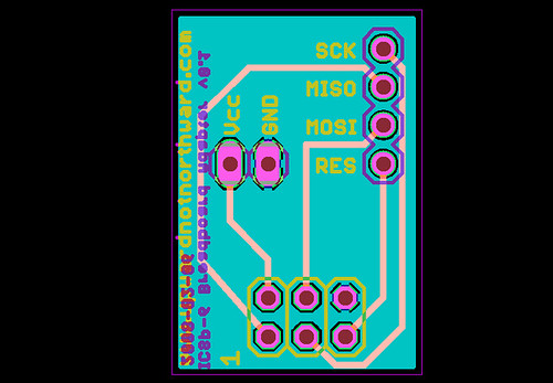 AVR ICSP (6 pin) breadboard adapter