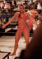 FiBo 1989 - Anja Langer (0014) (Thomas Becker) Tags: show female muscle posing cologne fair kln bodybuilding fibo 1989 bodybuilder athlete fitness messe langer anja reebok fbb anjalanger fitnessbodybuilding