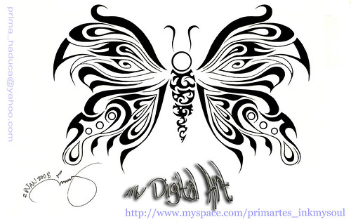 butterfly designs for permanent tattoo by prima_haduca.