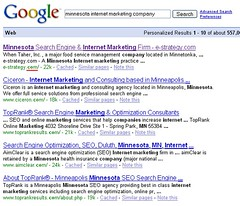 "Google ""Minnesota Internet Marketing Comp..."
