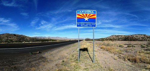 Entering Arizona, USA