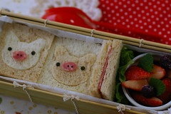 piggy Sandwich bento (luckysundae) Tags: piggy sandwitches