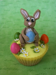 Happy Easter ! (abbietabbie) Tags: rabbit cakes daisies cupcakes chocolate smarties easterbunny fondant chocolateeggs sugarpaste abigfave chamilton