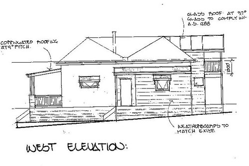 Cottage - West elevation
