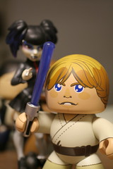 """my what a big lightsaber you have there, luke"" (NoNo Joe) Tags: austin toy starwars texas figure lukeskywalker mightymuggs"