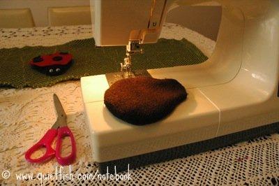 DIY ladybug beanbag