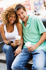 blackwhitekiss.com (candyfields29) Tags: love coffee smiling laughing happy couple eyecontact sitting posing indoor romance drinks romantic brunette adults twopeople affectionate caucasian multiracial interracial embracing midadultman 2530years midadultwoman 2025years threequarterlength midadults africandescent 24619150