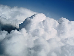 Cumulus Dodging (AndyBailey) Tags: clouds flying cumulus 2008