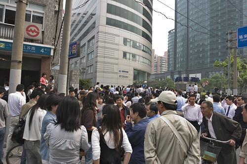 Shanghai citizen evacuate