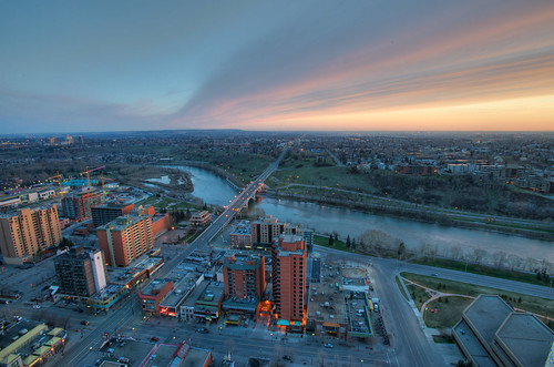 Calgary North at Sunrise