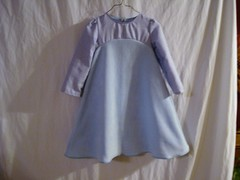 Empire Waist Dress Light Blue - Front $15.00 (flowernicky) Tags: set children clothing dress sale recycled handmade top sewing sew skirt dora diaper jeans slip cloth diapers headbands selling onesie nightgown ecofriendly pleats refurbished clothdiaper clothdiapers hairbows embelished