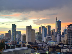 Sunset - Makati City, Manila (neilalderney123) Tags: sunset night geotagged manila makati hdr makaticity geo:lat=14588443 geo:lon=121001143