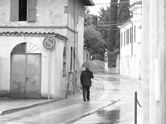 Rain will stop...someday.. (Italian Film Photography) Tags: people blackandwhite bw rain bn pioggia biancoenero s6500fd bnvitadistrada padernofranciacorta bresciaedintorni