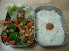 Lots of veggies bento (skamegu) Tags: japan rice bento japanesefood lunchbox     broccolisalad