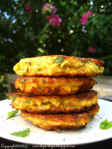 Harissa and Mint Yellow Squah Fritters