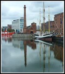 'Pelican of London' at Liverpool Albert Dock, 2011 (1) (ronramstew) Tags: reflection marina liverpool river sailing ship waterfront lancashire mersey merseyside 2011 pelicanoflondon 2010s