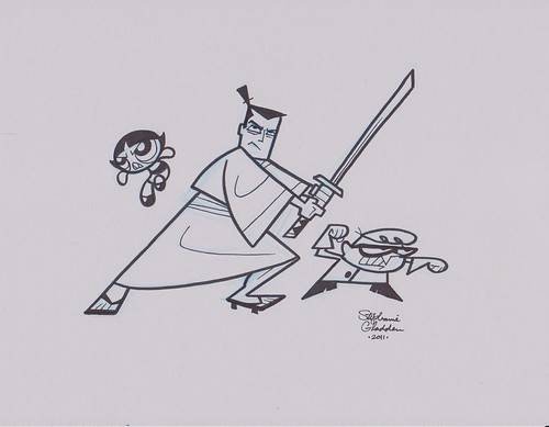 Buttercup, Samurai Jack, and Dexter by Stephanie Gladden