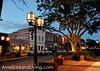 Night Falls on Fernandina's Historic Centre Street