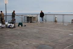 fishing (Leylabot) Tags: ocean pier hermosabeach uglyday