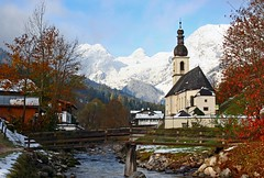 Church of Ramsau (Hornplayer) Tags: germany bayern deutschland bavaria duitsland ramsau beieren berchtesgadenerland
