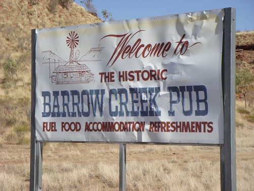 Barrow Creek sign.