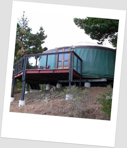 view of yurt