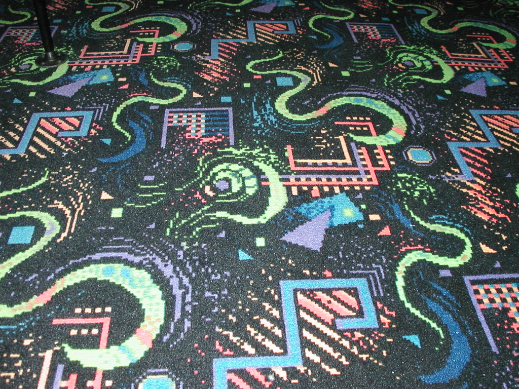 Megabytes Black Pattern Carpet