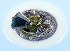 dHAKA pLANETOID (noprayer4dying) Tags: city panorama photo fuji exhibition aid finepix planet fujifilm dhaka polar effect bangladesh coordinates planetoid uttara aplusphoto s5700 2008 sidraidphotoexhibition2008 sidr