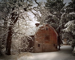 Barn in winter (James Jordan) Tags: winter snow barn bravo loneliness snowstorm 100v10f isolation supershot 25faves p1f1 superaplus aplusphoto diamondclassphotographer great123 aphotocontest31