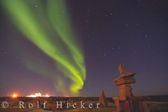 Northern Lights over Churchill Manitoba Canada (Rolf Hicker Photography) Tags: world travel light canada nature beautiful stars photography lights symbol photos scenic manitoba arctic aurora churchill astronomy nightsky symbols inukshuk northernlights auroraborealis rockformations hudsonbay inukshuks naturephotography rockformation travelphotography beautifulworld polarzone rolfhicker mywinners canadapictures aplusphoto top20aurora canadaphotography honeymooncanada portofchurchill picturesofcanada hickerphotocom