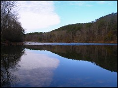 Silhouetted Morning (Kenny Shackleford) Tags: statepark mountain reflection water river georgia mirrored etowah cartersville naturesfinest allatoonariverside