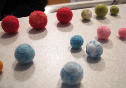 Many Felt Beads