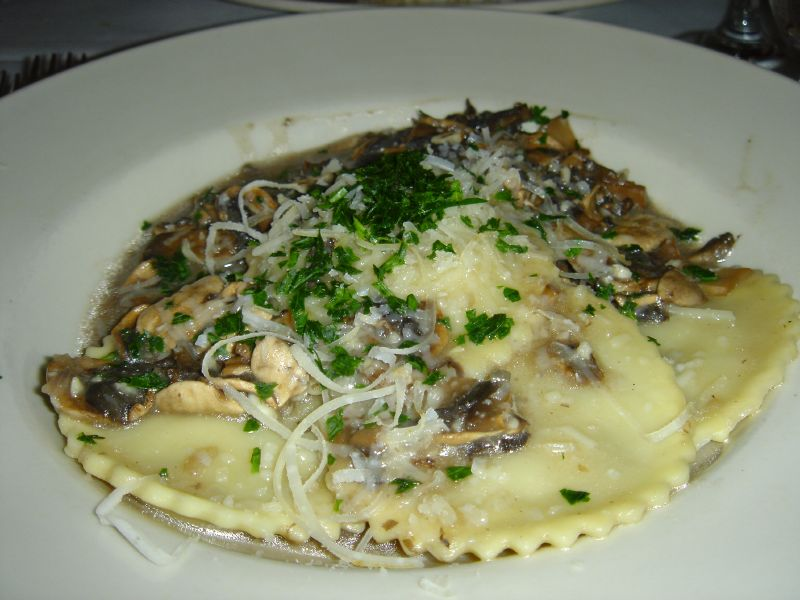 Agnolotti stuffed with Portobello mushrooms and ricotta