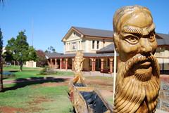 Aboriginal Sculpture ([adamfox]) Tags: sculpture house court boat head aboriginal brokenhill
