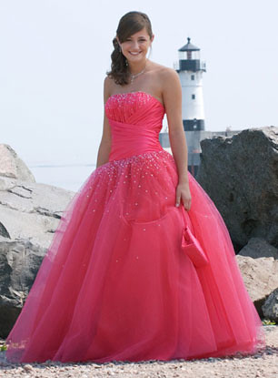 Pink Prom Dresses Tiffany