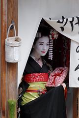 Picture 1 (emjay_photo) Tags: winter woman white beautiful beauty japan japanese clothing model kyoto pretty robe curtain ceremony makeup geisha kimono gion ceremonial