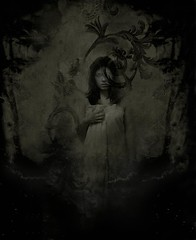 THEONE (horriblecherry) Tags: shadow dusty girl strange photoshop vintage dark empty gothic surreal fantasy depression tintype etc ferrotype layers aged everything scratched eyeless melainotype