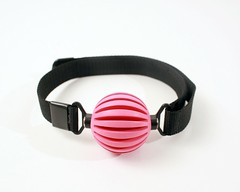 Ball Gag Pink Webbing