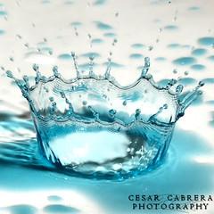 Blue (Cesar R.) Tags: blue macro water d50 agua nikon drop corona cesar micro crown 60mm gota splash nikkor cabrera eow impressedbeauty aplusphoto superbmasterpiece cesarr platinumheartaward betterthangood