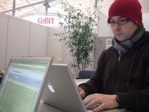 Das erste Foto von der CeBIT