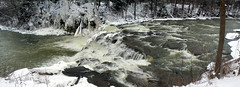 Indian Falls, NY (-dangler) Tags: new york winter snow nature water creek outside outdoors pembroke waterfall stream scenic panoramic falls rapids flowing 77 thefalls westernnewyork wny fz7 tonawandacreek dandangler wadeangle