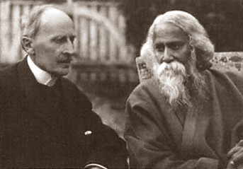 Romain Rolland with Rabindranath Tagore en Villeneuve, Suiza, 1926-FDr